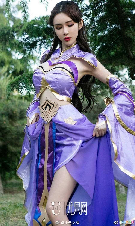 lol德莱文_王者荣耀:最美的紫霞仙子露娜cosplay,看了就不会觉得别的cos美了 ...